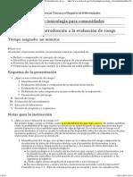 Curso de toxicología- Introducción a la evaluación de riesgo  ATSDR