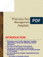 Pharmacy services  management in Hospitals