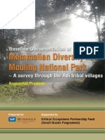 Baseline Documentation of Mammalian Diversity in Mouling National Park