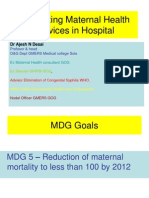 Organizing Maternal Health Services