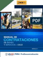 MANUAL DE CONTRATACIONES DE BIENES Y SERVICIOS – OSCE  MODULO 1