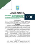 2da CONVOCATORIA __Congreso Argentino Educadores Musicales__2013