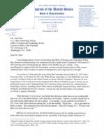 Letter to U.S. CTO Todd Park from Congressman Darrell Issa