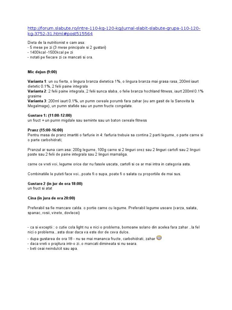 regim nutritionist de slabit pdf)
