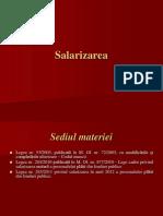 SALARIZARE - Dreptul muncii