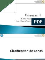 4- Clasificacion de Bonos