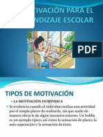 Motivacion Para El Aprendizaje