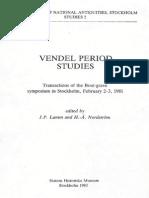 Vendel Period Studies