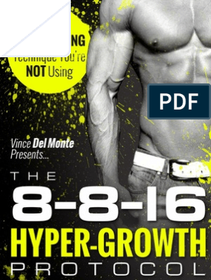 8 8 16 Hyper Growth Protocol Guide | Muscle Hypertrophy | Meal