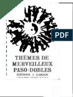 sheets-Editions J. Garzon - Thèmes de merveilleux Paso-Dobles (50 Titres) - Album n° 1