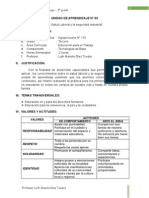 UNIDAD DE APRENDIZAJE N° 03 - TERCERO
