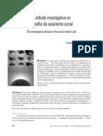 Atitude Investigativa No Trabalho Do Assistente Social
