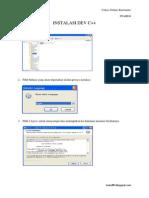 Tutorial Installasi Dev C++