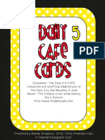 Red and Yellow Daily Cafe Strategies Cards