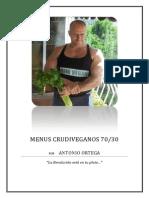 Menus Crudiveganos 70-30 a30 Menus Completos