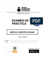 Examen  prueba México nuestro Hogar