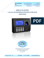 Manual Control de Asistencia v12 EP300