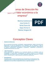 Los Sistemas de Dirección No aportan Valor economico , marco teorico (1)