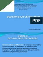 Clase_Decisiones Bajo Certidumbre