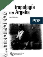 Bourdieu - Antropologia de Argelia