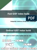 Fast GiST Index Build