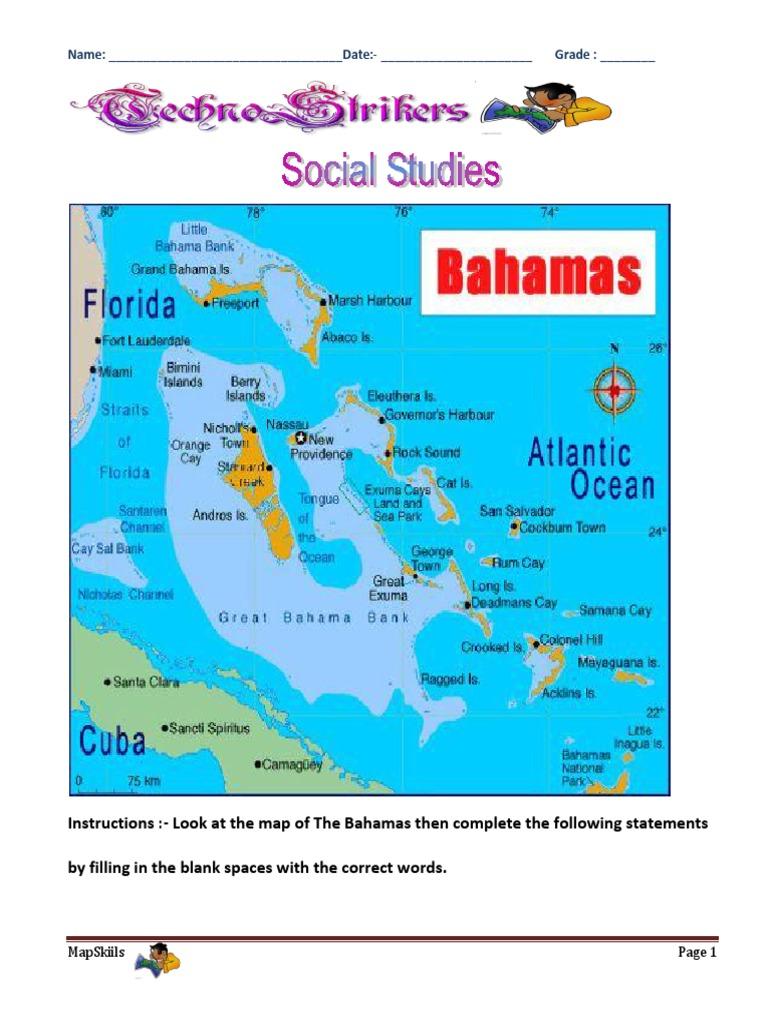 bahamian map skills. Black Bedroom Furniture Sets. Home Design Ideas