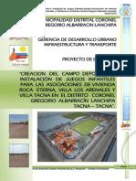 Expediente Tecnico Campo Deportivo