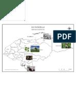 Mapa de Productos de Honduras Epoca Colonial