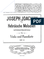 Hebrew Melodies  for viola and pianoforte