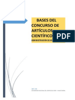 BASES DEL CONCURSO DE ARTÍCULOS CIENTÍFICOS