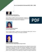 Candidatos Inscritos a la Comisión de Personal SED  2013 - 2015