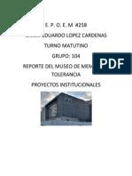 Reporte Del Museo