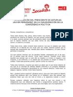 Discurso Javier Fernandez 9 Nov 2013