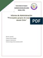 Informe Administracion Exportaciones Chile 2013