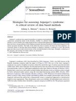Asperger Evaluation Methods