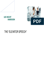 The Elevator Speech & Networking.pdf