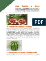 Frutas Exoticas en Reposteria
