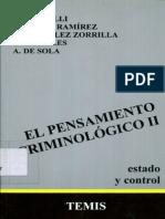 Bergalli, R_ Bustos, j y Miralles, t - El Pensamiento Criminologico II. Estado y Control