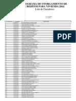 Resultados de sorteo Créditos Fovissste 2014, Guanajuato