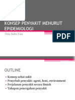 Konsep Penyakit menurut Epidemiologi