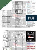 Carta Sushi 2012 KIBO