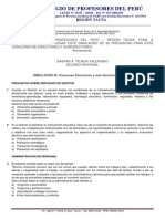 Simulacro III; Concurso de Directores y Subdirectores 2013