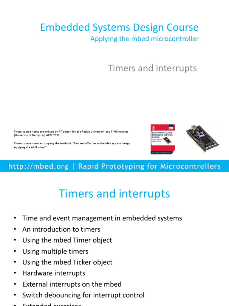 Mbed Course Notes Timers And Interrupts Subroutine Embedded System Switch Debounce Tutorial