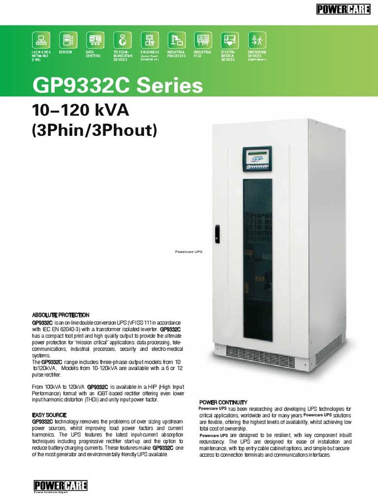 GP9332C 10-120KVA | Battery Charger | Power Inverter