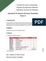 Guia de Lab 10 Qimica Del Suelo Parametros Fisicos II