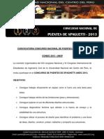Bases Concurso de Puentes de Spaghetti 2013 Coneic