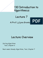 Lecture7 - Sorting Algorithms