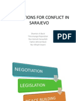 RESOLUTIONS FOR CONFLICT OF SARAJEVO.pptx