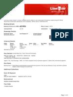 Lion Air eTicket (AZYRSI) - Martadinata
