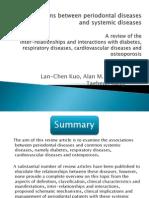 Associations Between Periodontal Diseases